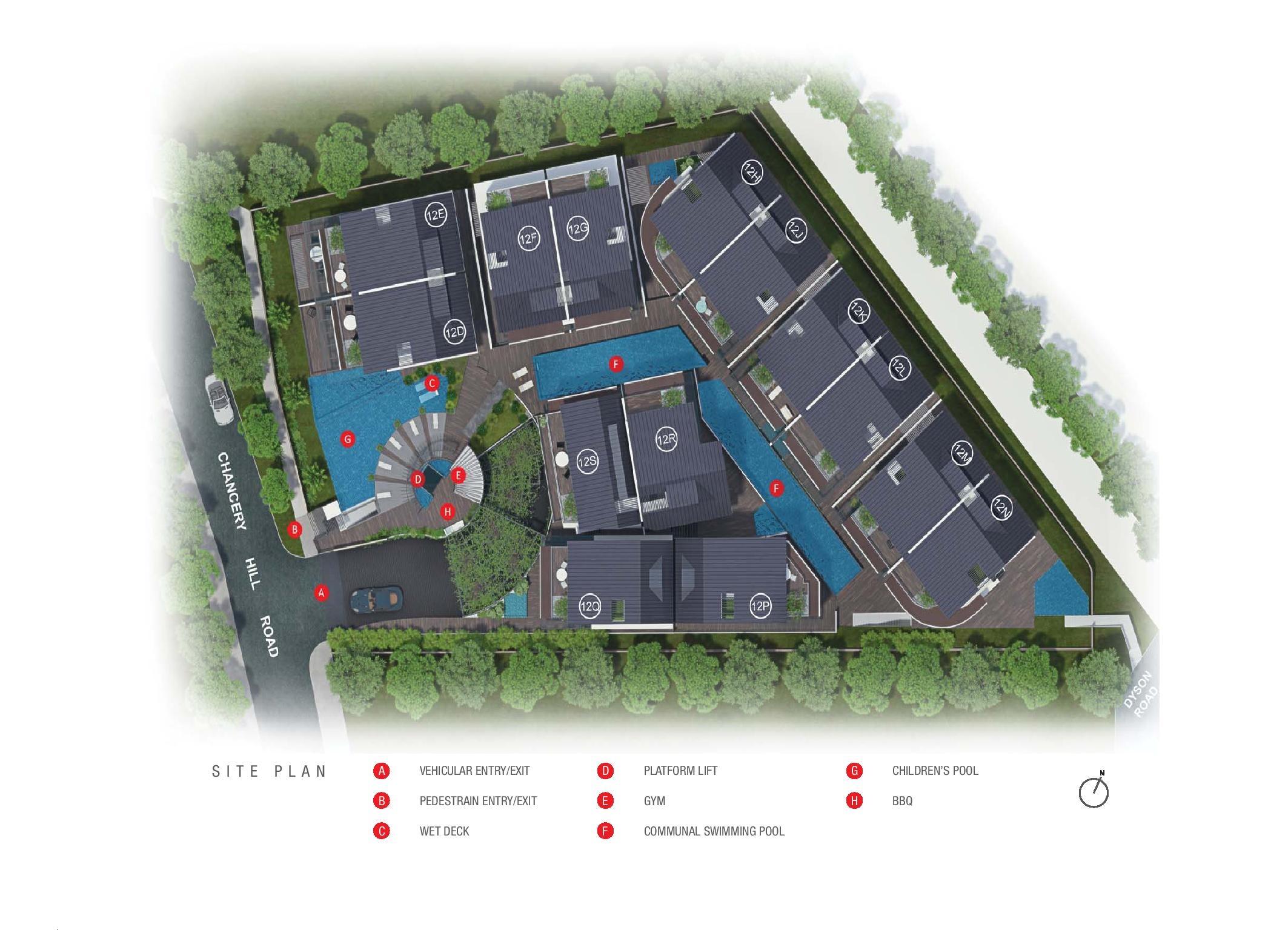 Chancery Hill Villas Site Map